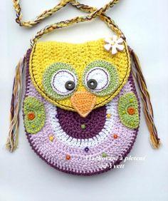 Háčkovaná sovičková kabelka- návod kabelka dívčí háčkování sova sovička návod
