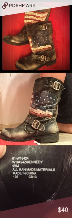 Freakin amazing USA boots I've gotten so many compliments on these! Great boots, great condition 🇺🇸 Shoes Combat & Moto Boots
