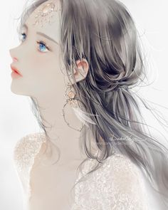 Best Ideas for eye drawing illustration paintings Pretty Anime Girl, Beautiful Anime Girl, Manga Girl, Anime Art Girl, Anime Girls, Manga Anime, Arte Indie, Art Visage, Digital Art Girl