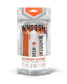Keep all of your handheld electronic screens looking like new with the Whoosh! Screen Shine Spray Duo with 2 Cloths. Fingerprints won't stand a chance against this powerful non-toxic screen cleaner which protects your phone from germs Cleaning Spray, Cleaning Kit, Cleaning Screens, Thing 1, Tech, Hygiene, 1 Oz, Smudging, Cleanser