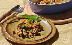 V kuchyni vždy otevřeno ...: Zapečené žampiony s nivou Kung Pao Chicken, Beef, Ethnic Recipes, Food, Meat, Essen, Meals, Yemek, Eten