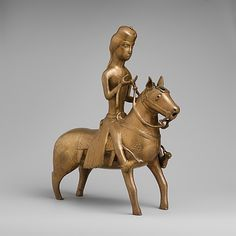 Aquamanile in the Form of a Falconer on Horseback, 13th century. North German. The Metropolitan Museum of Art, New York. The Cloisters Collection, 1947 (47.101.55) #horses