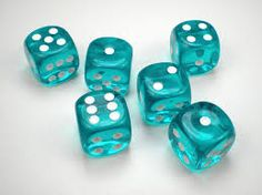 Color Teal - Teal!!! Dice