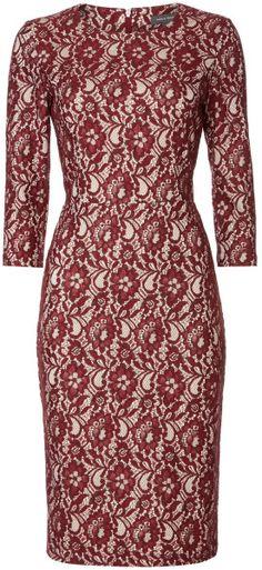 Amy Lace Shifr Dress 3/4 Sleeve - Lyst