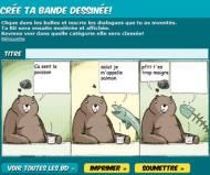 Websites (in French or in English) for creating comic strips