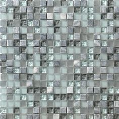 "Found it at Wayfair - Crystal Glass and Stone 12"" x 12"" Mosaic Tile in Breeze"