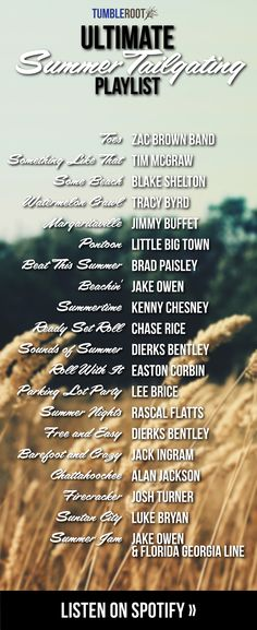 We love the combination of summertime and country music at TumbleRoot, so we thought we'd make a playlist for y'all to listen to this summer! Here's our Ultimate Summer Tailgating Playlist: Country Playlist, Country Lyrics, Country Music List, Country Music Quotes, Country Party Songs, Country Love Songs, Country Boys, Summer Playlist, Song Playlist