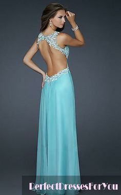 Love the back of this dress and the color.