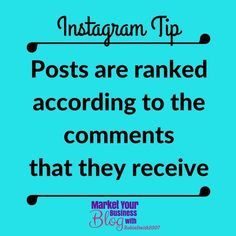 Instagram Tip: Instagram posts are ranked according to the comments that they receive.  Comments are now more valuable than likes.  And Instagram is incredibly particular.  Comments are only factored into your posts ranking if they are longer than three words.  So if someone leaves their favorite emojis or Love this! its as if you didnt receive a comment at all. Double Tap & TAG a friend if you like these valuable tips!   Want to learn more about building your business using Instagram? Or…