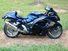 chrome blue / black , Suzuki Hayabusa , www.PashnitBusa.com #pashnit #hayabusa