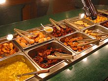 An American Chinese buffet restaurant in the U.S.
