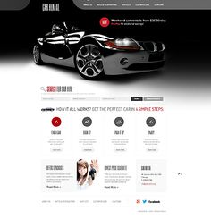 Car Rental Website Templates by Delta