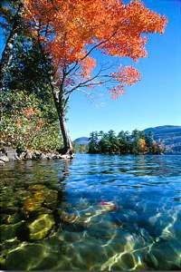 Lake George, NY - I have never seen a lake as beautiful and crystal clean as this.
