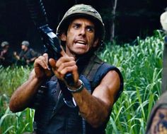 "Ben Stiller in ""Tropic Thunder"" Madagascar 1, Ben Stiller, Night At The Museum, Famous Men, Best Actor, Action Movies, Funny People, Friends Family, Thunder"
