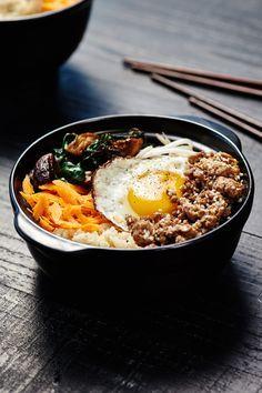 Brown Rice Pork Bibimbap.