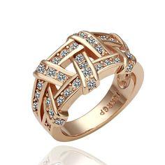 18KGP R061 Rose Glod Weave 18K Gold Plated Ring Health Jewelry Nickel Free K Golden Plating Platinum  Austrian Crystal on AliExpress.com. $3.88