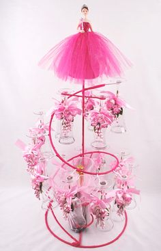 Spiral decorated Toasting Glases Set - Quinceanera Style