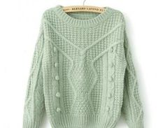 Casual Loose-knit Sweater Wool Ball..