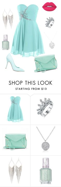 """""""Outfit from Teresa"""" by elusiin ❤ liked on Polyvore featuring ShoeDazzle, Apt. 9, Anne Sisteron, Jules Smith, Essie and Lime Crime"""