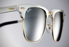A 1950′s Inspired Look: The Ray-Ban Clubmaster Aluminium Sunglasses