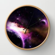 Clock, Graphic Design, Space, Wall, Artwork, Prints, Home Decor, Watch, Floor Space