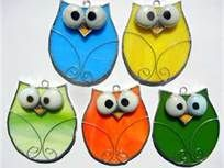owl stained glass ornaments