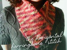 Horizontal Herringbone Knit Pattern