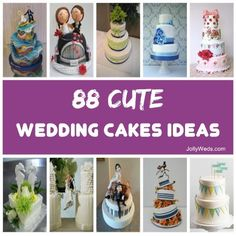 88 Cute Wedding Cakes Ideas