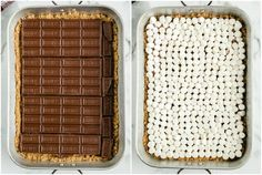 Our S'mores Bars give you all the delicious flavors of a s'more in this easy and gooey dessert! Graham cracker crust, melted chocolate bars, and mini marshmallows all baked in the oven to create this easy anytime dessert! Smores Bar Recipe, Smores Cake, Smores Dessert, Chocolate Pack, Melting Chocolate, Healthy Dessert Recipes, Easy Desserts, Holiday Desserts, Cranberry Bliss Bars Starbucks