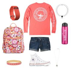 """""""Wednesday Apparel #1"""" by jennagj on Polyvore featuring Vera Bradley, Aéropostale, Converse, Lucky Brand, NIKE, Fitbit and Halcyon Days"""