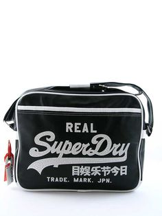 e5cd44d429 Superdry Alumni Messenger Bag Black Optic £40 Superdry Bags