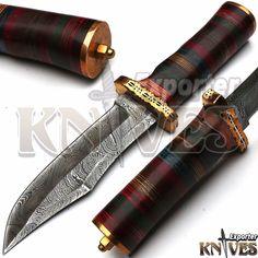 KNIVES EXPORTER New Custom Damascus Steel Hunting Knife, Micarta Handle #KNIVESEXPORTER