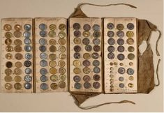 Samples of eighteenth century buttons from an exhibition at the Cooper-Hewitt National Design Museum in New York