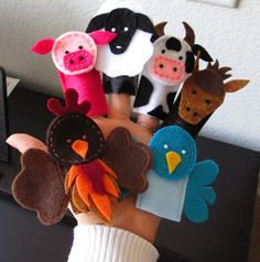 noah's ark Finger Puppets   Finger Puppet Frenzy Quiet Book Page. Includes: Farm and Noahs' Ark ...