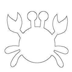 Molde Caranguejo Felt Crafts, Diy And Crafts, Crafts For Kids, Paper Crafts, Quiet Book Templates, Quiet Book Patterns, Rainbow Fish Template, Decoration Creche, Ocean Crafts