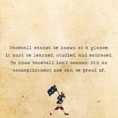 Smart people love baseball.