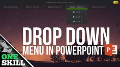 How to drop down menu in PowerPoint  (updated)