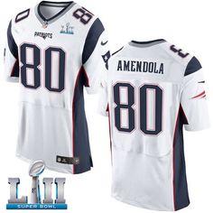 397a7edc61b Nike Patriots 80 Danny Amendola White 2018 Super Bowl LII Elite Jersey  Patriots 80, Nfl. Patriots 80Nfl New England ...