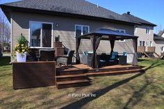 Patio Plus - Treated wood Deck Backyard Patio Designs, Patio Ideas, Outdoor Ideas, Outdoor Decor, Porch Ideas, Backyard Ideas, Small Backyard Decks, Swimming Pools Backyard, Patio Makeover