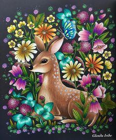 "442 Likes, 28 Comments - Glenda Iribe (@iribeglenda) on Instagram: ""Twilight Garden by @maria_trolle ...prismacolor premier, faber Castell polychromos, sakura gelly…"""