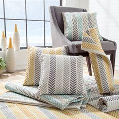 Mercury Row Chevron 100% Cotton Throw Pillow & Reviews | Wayfair
