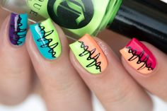 And these sexy Latest Easy Nail Art Designs for Short Nails 2016 will make your cute nails the next most beautiful thing on earth after you. Funky Nail Art, Funky Nails, Easy Nail Art, Cool Nail Art, Cute Nails, Pretty Nails, Colorful Nails, Cute Nail Art Designs, Nail Polish Designs