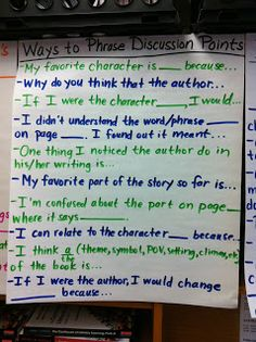 Middle School Teacher to Literacy Coach: Anchor Charts