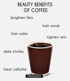 BEAUTY BENEFITS OF COFFEE FOR SKIN AND HAIR Coffee Cellulite Scrub, Coffee Face Scrub, Skin Care Regimen, Skin Care Tips, Organic Skin Care, Natural Skin Care, Coffee Hair Dye, Hair Scrub, Body Scrub Recipe