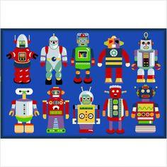 Colorful Robot Rug :)