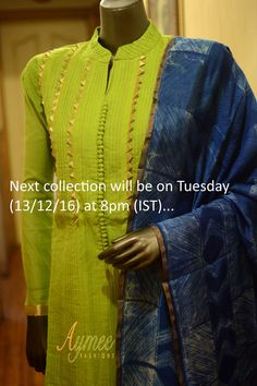 Kurti designs that will look good on every woman - ArtsyCraftsyDad Neck Designs For Suits, Dress Neck Designs, Blouse Designs, Designer Salwar Kameez, Embroidery Suits Punjabi, Kurti Embroidery Design, Kurti Sleeves Design, Kurta Neck Design, Girls Kurti