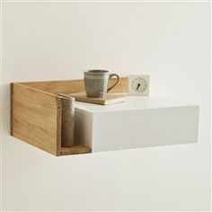Jimi Wall Mounted Bedside Table, Right-Hand Side LA REDOUTE INTERIEURS Jimi wall-mounted bedside table, right-hand side. This Jimi floating bedside table brings a light and contemporary look to a simply styled. Floating Shelf Under Tv, Floating Shelves Bedroom, Floating Shelves Kitchen, Floating Nightstand, Glass Shelves, Wall Mounted Bedside Table, Bedside Shelf, Wall Mounted Dressing Table, Shelf Arrangement