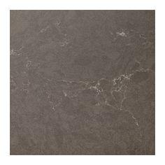 OXSTEN Måttbeställd bänkskiva, matt mörkgrå matt mörkbrun, marmormönstrad kompositsten matt mörkgrå/marmormönstrad kompositsten 63.6-125x3.8 cm