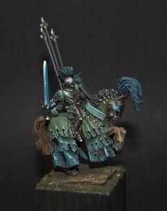 bretonnie Figurine Warhammer, Warhammer 40k Miniatures, Green Knight, Fantasy Figures, Fantasy Battle, Fantasy Miniatures, Warhammer Fantasy, Fantasy Artwork, War Machine
