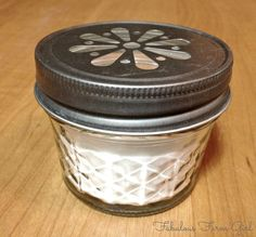 Easy Room Freshener 1/4 cup baking soda 6-8 drops essential oils of your choice (I used doTERRA, 4 drops Wild Orange+2 drops Rosemary) Mix baking soda and essential oil in a bowl until thoroughly combined and all lumps are gone. Put in a container with a vented lid or just leave the lid off. If using a mason jar put a piece of thin fabric over the jar and secure with the ring only or go online and buy some of those darling punch-cut lids. For best results use in a small room
